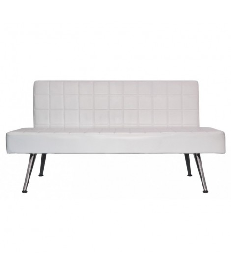 White rectangular waiting sofa