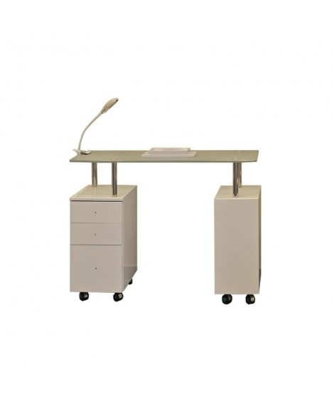 Manicure table with lamp