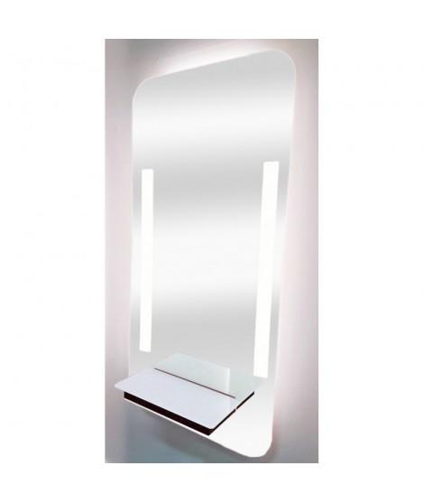 Short led shelf white mirror